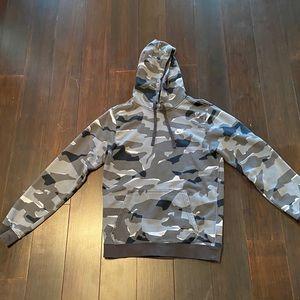 BLACK/GREY/WHITE camo NIKE CLUB hoodie